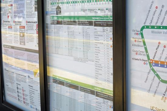 Trolley schedule posted with map of the system - Picture of Santa Fe ...