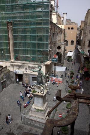 Domus Gemi B&B: View from room at Piazza San Gaetano &  Basilica di San Paolo Maggiore