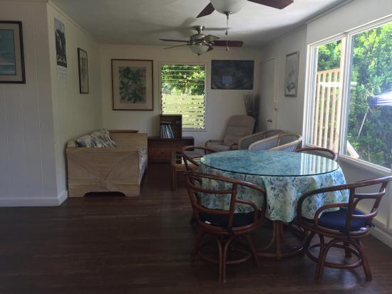 Sharks Cove Rentals: Cozy bedroom and bbq grill!!