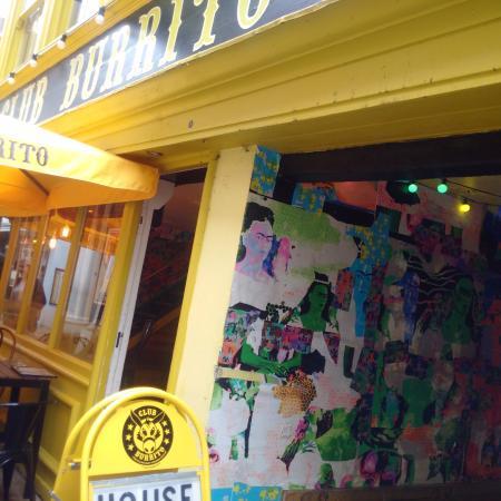 Club Burrito: Outside area