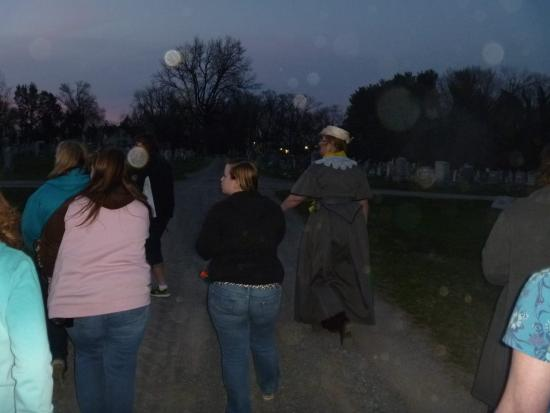 Charles Town Ghost Tours: The spirits following us through the cemtery.