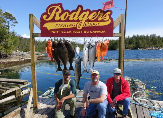 Beautiful day out on the water salmon halibut and for British columbia fishing lodges