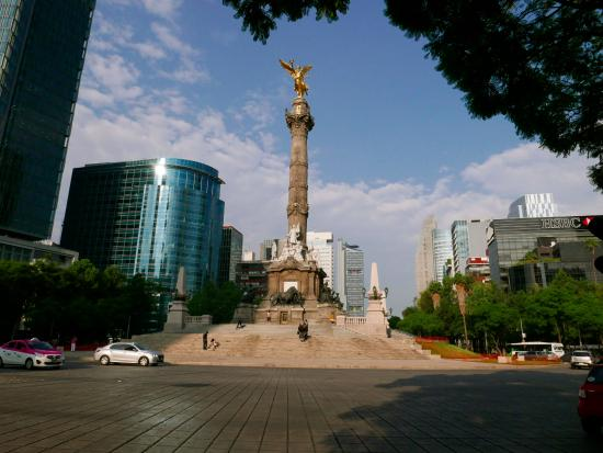 The St. Regis Mexico City: A view up Reforma with the St. Regis to the right.
