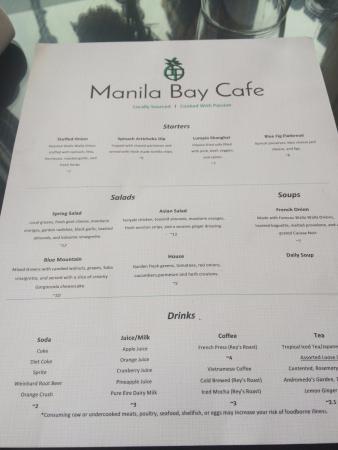 Dayton, Ουάσιγκτον: menu