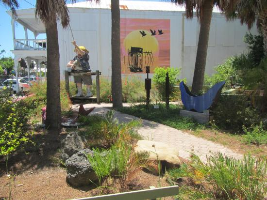 Cedar Key, FL: View of the art in the park #!