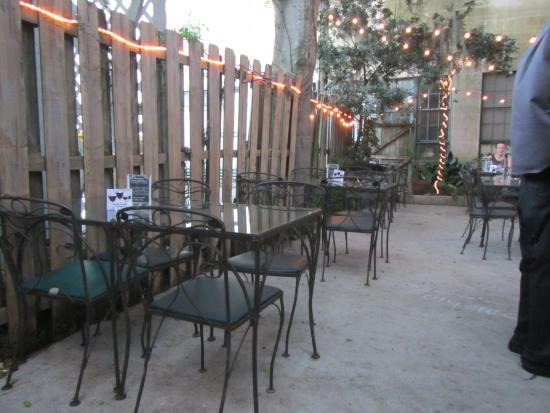 Wine & Cheese Gallery: The patio in back