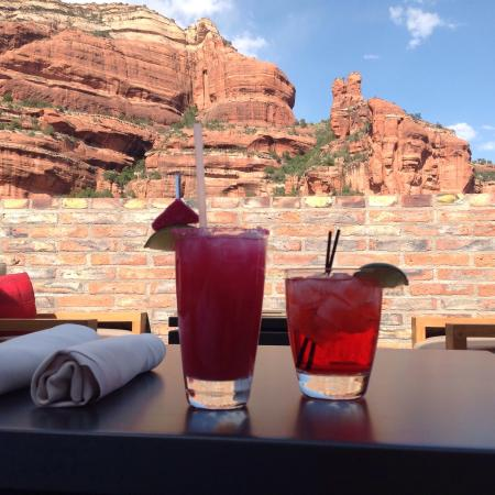 View 180 at Enchantment Resort: Look at the view. Happy Hour like no other place in town.
