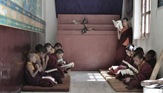 Dhankhar, Indien: The classroom of Monks..