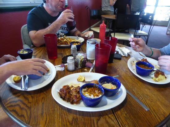 Dunlap, CA: Our meal..