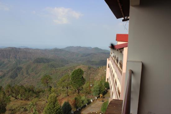Kasang Regency Hill Resort: Another view from the room shows a part of the building view of the valley.