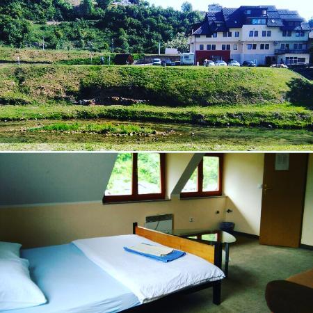 Jajce Youth Hostel: garden/rooms