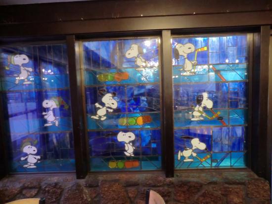 Redwood Empire Ice Arena : Snoopy Window