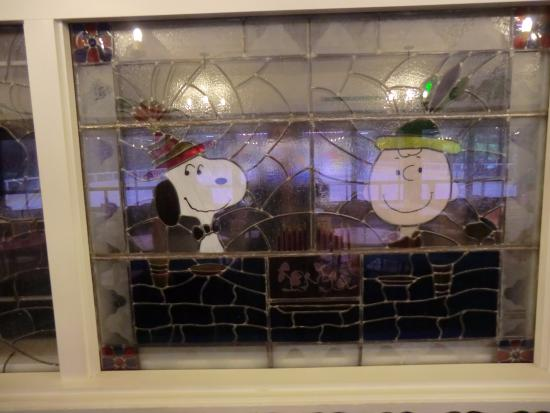 Redwood Empire Ice Arena : Charlie Brown and Snoopy window