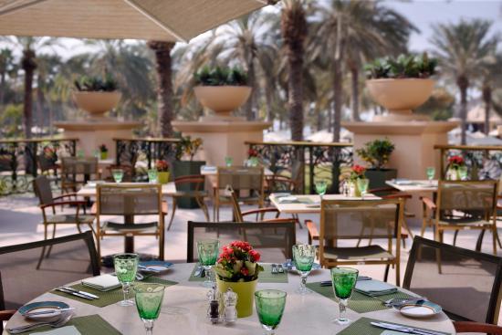 The Palace at One&Only Royal Mirage Dubai: Olives Restaurant Terrace, The Palace at One&Only Royal Mirage, Dubai