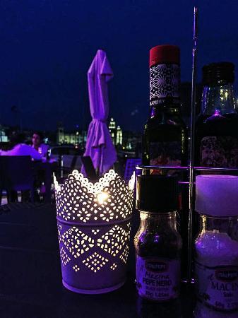Outside Tables Lit Up For The Evening Picture Of Tas Serena Cafe Restaurant Senglea Tripadvisor