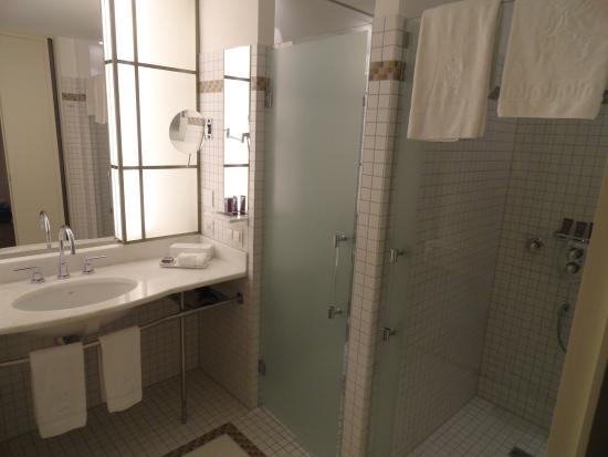 the ritzcarlton wolfsburg modern bathroom with separate toilet u0026 shower cubicles