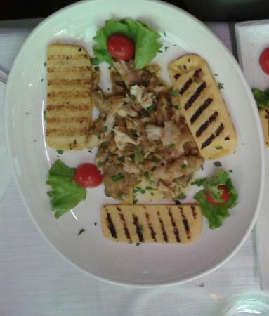 Hotel Ristorante Miralago: luccio in salsa con crostoni di polenta