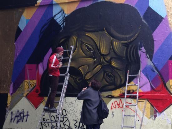 Not all street art is painted, many have developed