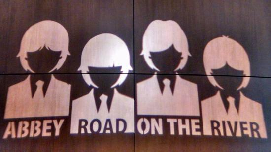 Abbey Road On The River : AROTR logo projected on the wall at the Marriott