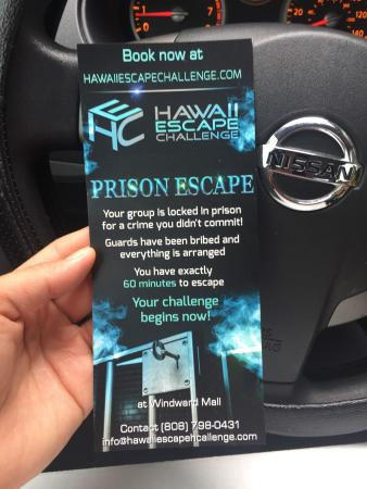 Kaneohe, HI: Hawaii Escape Challenge