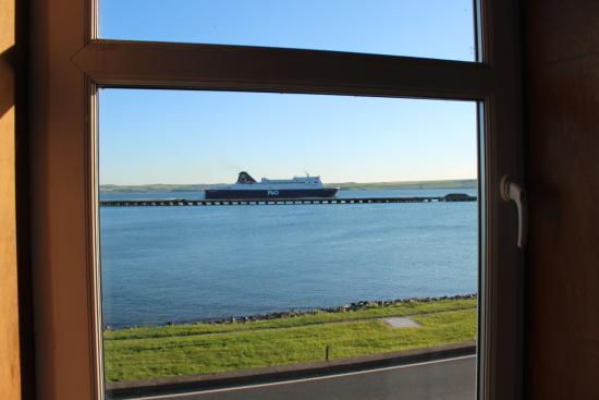 Cairnryan, UK: View from our room