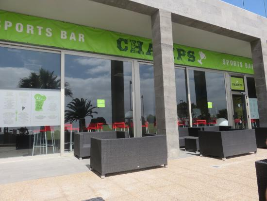 e6b23ad2834d2 Barcelo Teguise Beach - Adults only  Champs Sports Bar from the Promenade.  Entertainment area