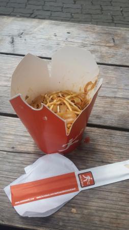 Wok to Walk: noodles gamberi