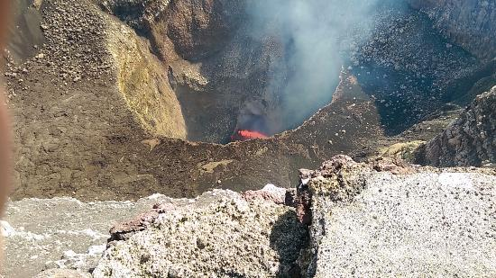 Masaya Department, Nicaragua: Masaya Volcano is a must see...It was hard to capture with my cell. Being there was powerful!
