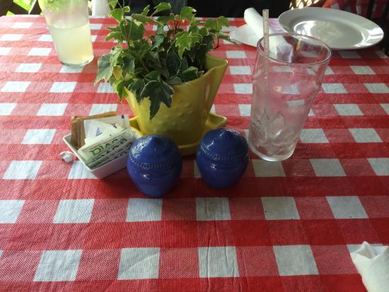 New Buffalo, MI: Empty lemonade glass