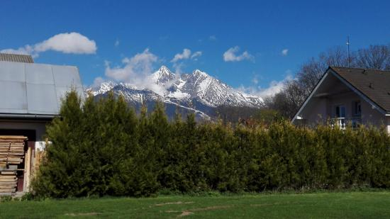 Stara Lesna, Slovakia: view from the parking lot