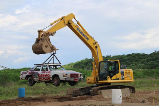 Hastings, MN: One of many things we each did with the excavators