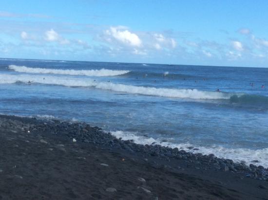 Papara, Fransk Polynesia: Playa y los arrecifes de coral