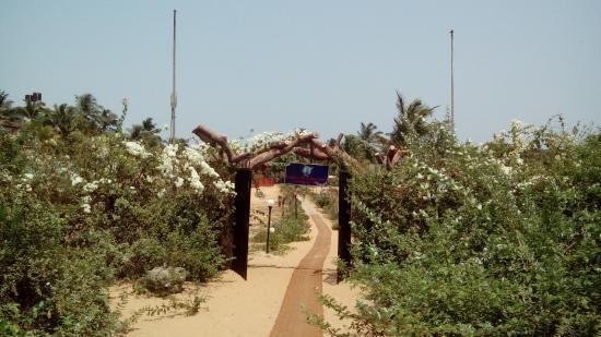 พาราไดซ์วิลเลจบีชรีสอร์ท: Beach entrance to PVR