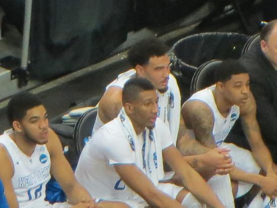 University of Kentucky: Karl Anthony Towns, Marcus Lee, Willie Cauley Stein, and one of the Harrison twins.