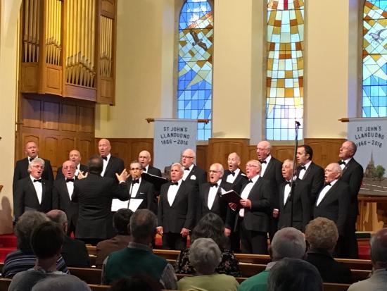St. John's Methodist Church: Male voice choir