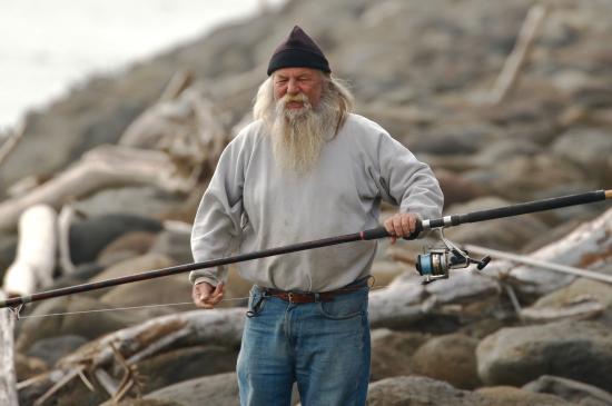 New Plymouth, New Zealand: Fisherman on the Coastal Walkway