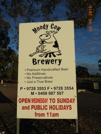 Moody Cow Brewery: There you go.
