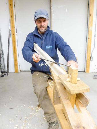 Ely, MN: Birch bark canoe building