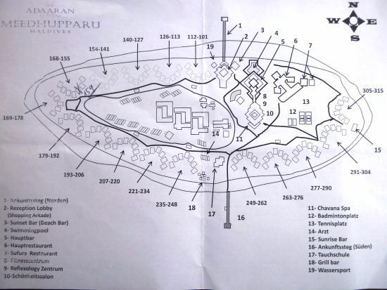 Meedhupparu Island : Lageplan