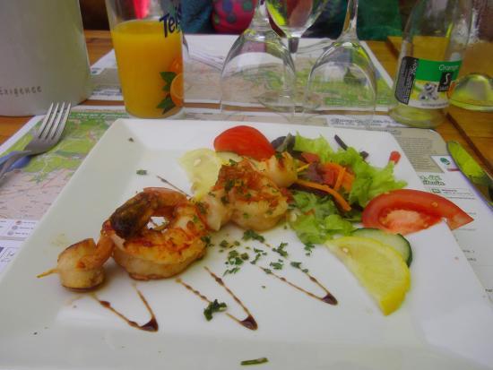 Auberge de la Venise verte: les crevettes qui avaient mauvais goût