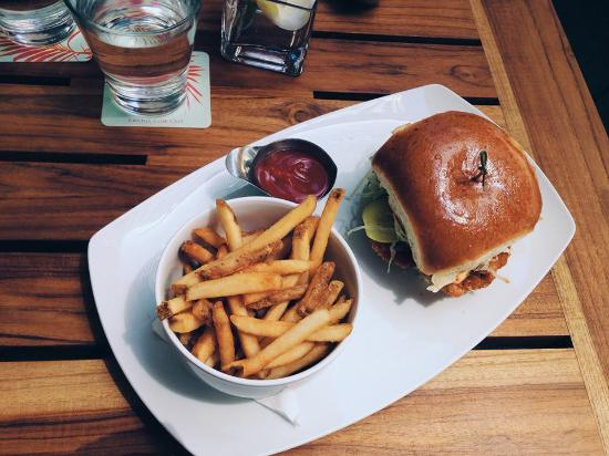rob s crispy chicken sandwich picture of cactus club cafe toronto