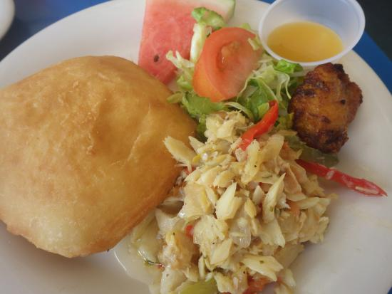 St Maarten Culinary Tours: Johnny cake and cod fish