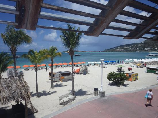St Maarten Culinary Tours: fabulous view from 2nd floor