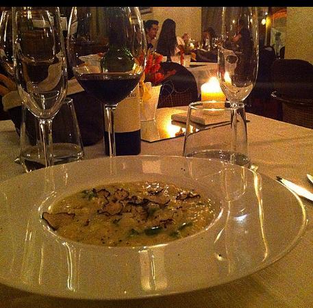 Carimate, อิตาลี: risotto agli asparagi con spolverata di tartufo fatto al momento