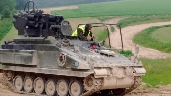 Alvis Stomer APC/SAM track with Nigel instructing  - Picture of The