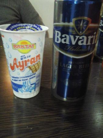 San Gwann, Malta: ayran is a type of Turkish yoghurt and this beer you all know