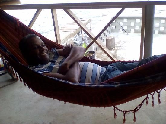 Portobelo, ปานามา: Relaxing at the restaurant