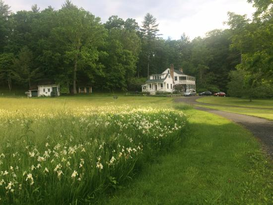 """Meadow Lane Lodge & Cottages: View of the lodge walking back from the """"deck."""""""
