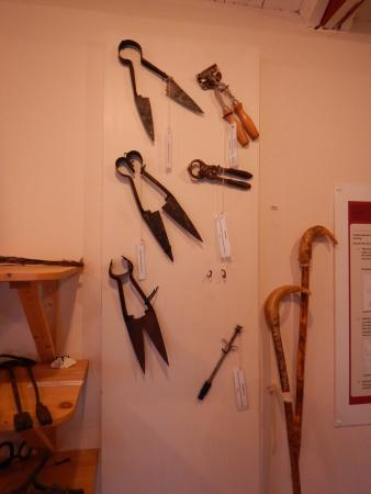 The Sheep and Wool Centre: Outils pour tondre les moutons