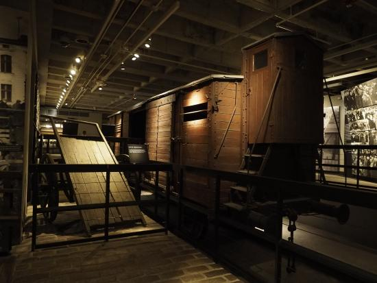 an actual cattle car used to transport jews to the death. Black Bedroom Furniture Sets. Home Design Ideas
